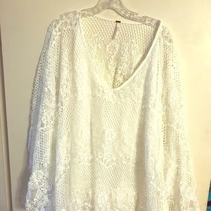 Free People Lace Poncho with Cami size Large